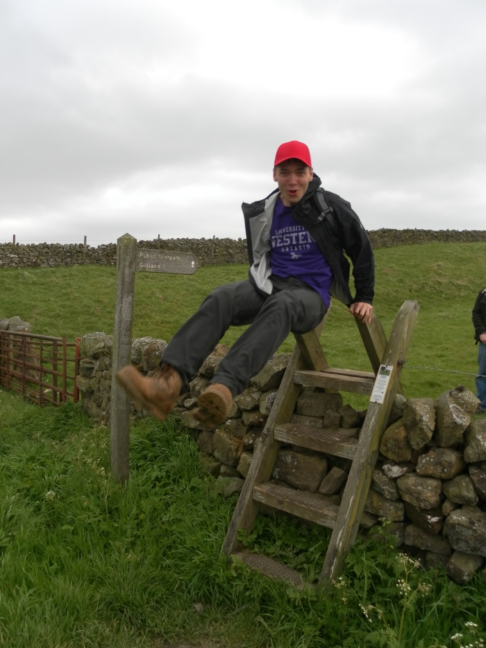 Rob hurdles a stile in style!