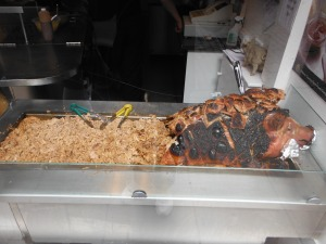 Whole roast pig at Oink! near the Grass Market