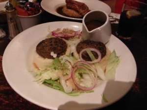 The Haggis with Whiskey Sauce at Maggie Dickson's Pub