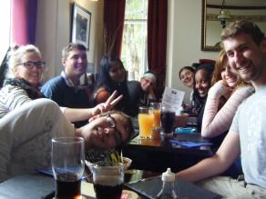 Field school group lunch pub