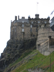 Edinburgh Castle nestled atop Castle Rock