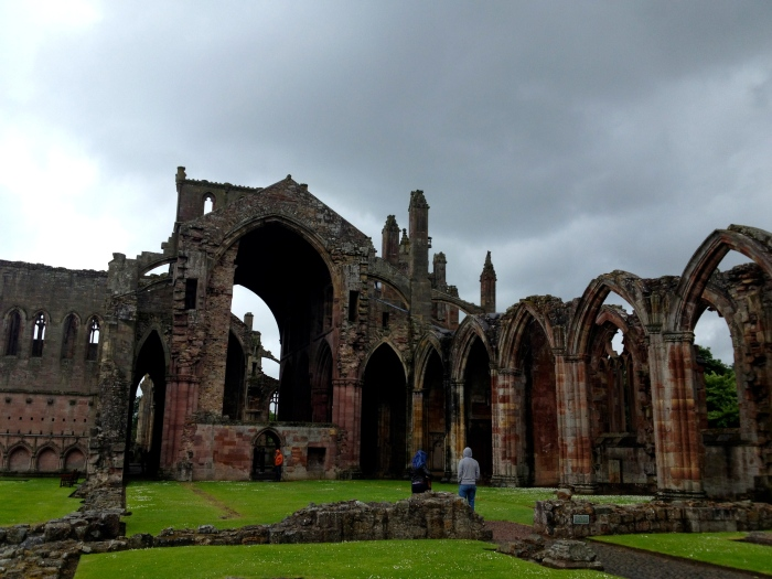 The hauntingly beautiful skeleton of the once grand Melrose Abbey
