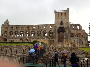 My fellow Field School students march into Jedburgh Abbey