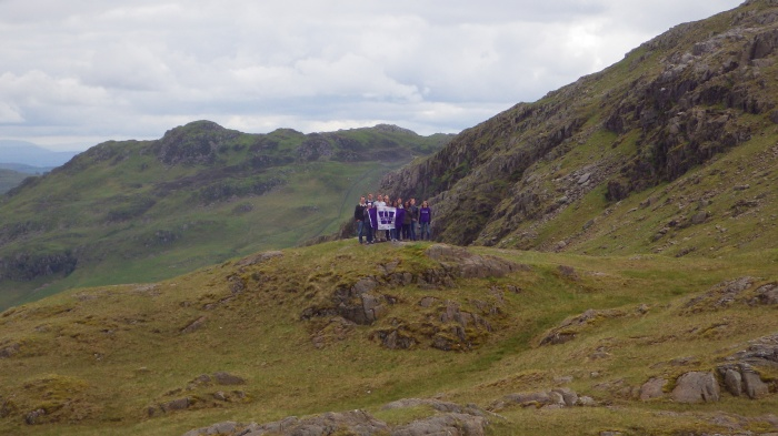 The view from the top of Wrynose pass, with Western students.