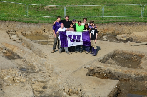 In our wonderful trench at Vindolanda on the last day of Field School for 2013.