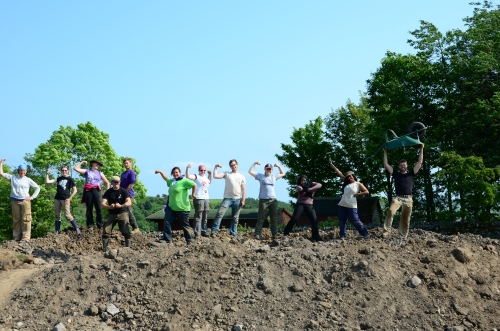 We moved THIS MUCH dirt this summer! If you have a moment, check out everyone in this picture. So funny!