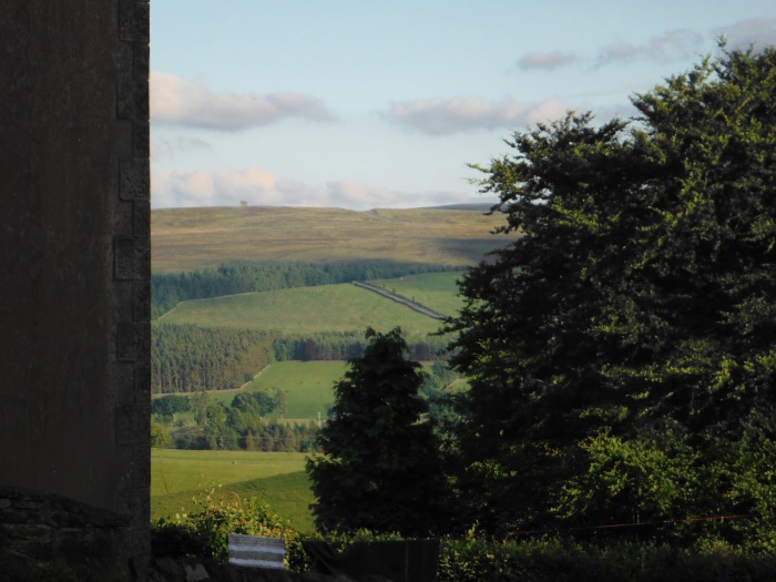 The view across the Tyne Valley from the cottage's garden