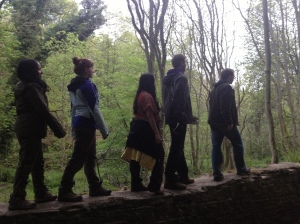 This was a photo from one of the mini hikes a group of us took together. We took the time to rip off a Beatles idea.