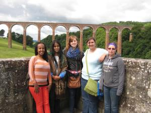Girls at the bridge