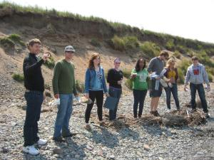 There have been many great moments this trip, and every one of them involved the other field school students. This is a great one of some of the team chilling on the beach near Maryport.
