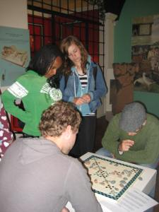 Dan and Robin were engaged in an intense Roman  game at the museum in Maryport