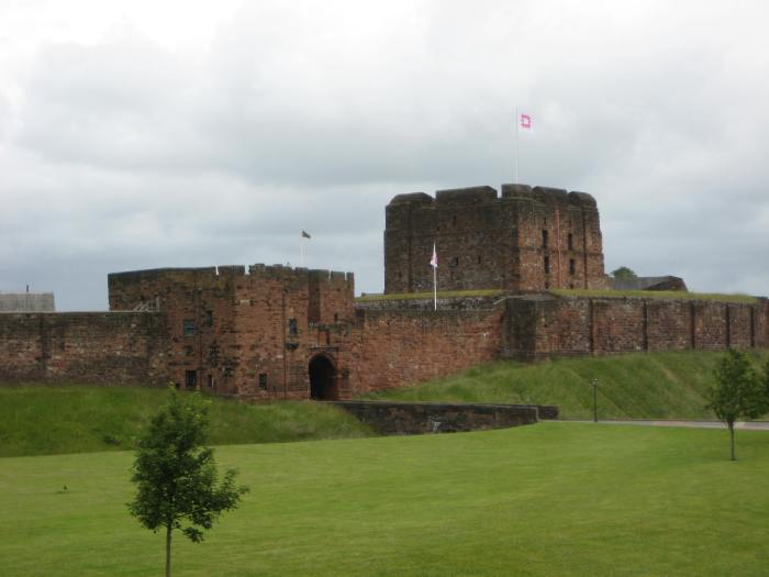Carlisle Castle from our lovely vantage point