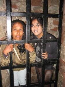 It wasn't all fun at the trip to Carlise, at least not for Rohana and Amanda who spent some time in the castle dungeon.