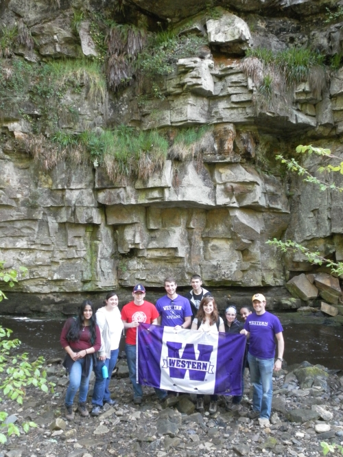 Underneath an amazing geological formation in Haltwhistle Burn, only 5 minutes from our cottages!