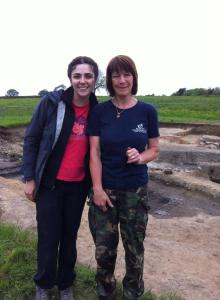 Me and the lovely Karen! It was great digging with you :)