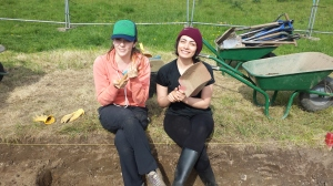 We learned how to properly use a trowel and hand shovel! And to keep light hearted while digging!