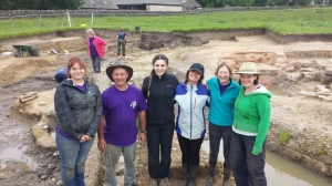 A shot with the students and and our fellow digging friends Paul and Helen.