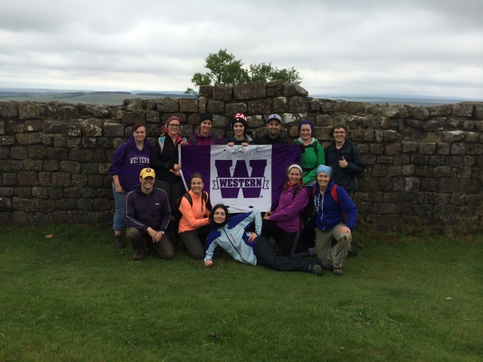 Here's the picture that has now become obligatory--the crew in front of the highest section of the wall standing.