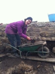 Sorting through anaerobic soil!