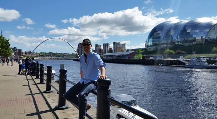 Myself along the River Tyne