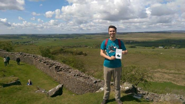 Me along Hadrian's Wall (hopefully the contest winning photo as well!)