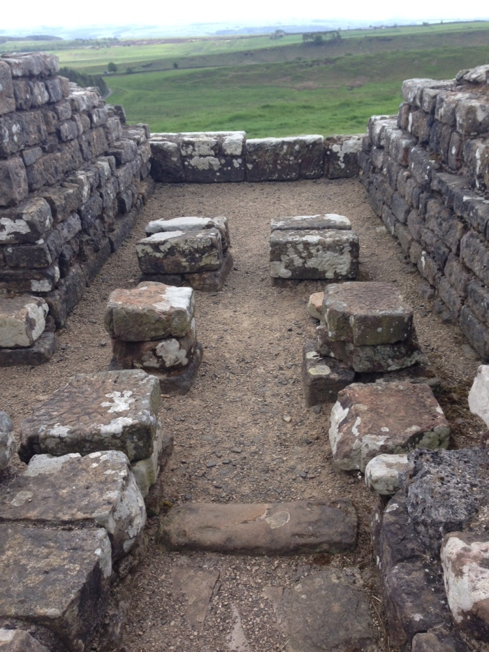 The underfloor heating (hypocaust) system in the Housesteads bathhouse.