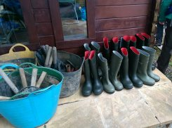 All of our Wellies lined up!