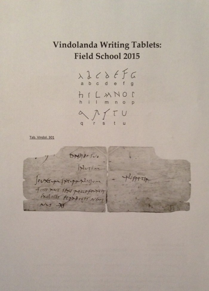 A Vindolanda writing tablet. Can you make out what is being said?