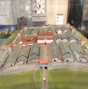 A small scale model of what the fort probably looked like at the height of its existence.