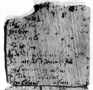 Vindolanda tablet 181 which is a record of debts owed and sums received. This tablet also mentions a man by the name of Tagomas.