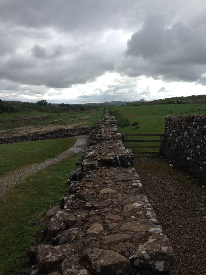 Hadrian's Wall near Birdoswald, where we began our first hike.