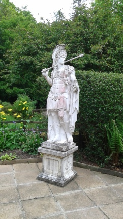 Statue in the gardens at the Vindolanda Museum