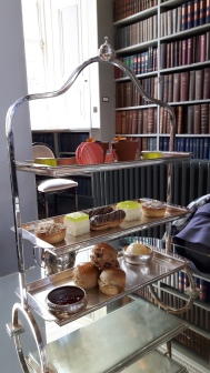 Afternoon tea pastry rack at Colonnades at the Signet Library. A proper afternoon tea to relax our feet and work our senses.