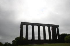 The national monument of Scotland, which was never completely finished due to the lack of funds.