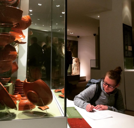 Sam discovers a Samian ware artifact that matches one of our limericks