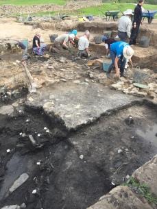 Excavators in action