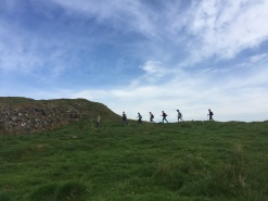 Group Hiking to Birdoswald